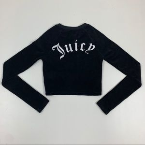 Juicy Couture Logo Long Sleeve Crop Top